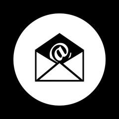 Black and white envelope icon