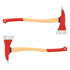 firefighter axe vector illustration isolated on white background