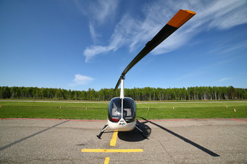 Aircraft - Small white helicopter