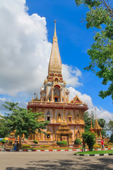Beautiful ancient temple in Thailand on a sunny day