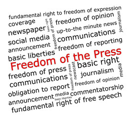 Freedom of the Press wordcloud