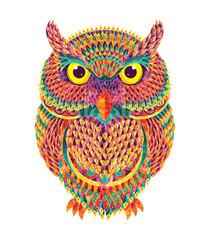 Hand-drawn owl. Vector illustration