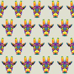 Abstract giraffe seamless pattern background