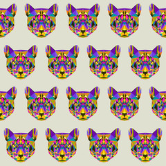 Abstract puma seamless pattern background
