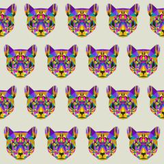 Abstract puma seamless pattern background