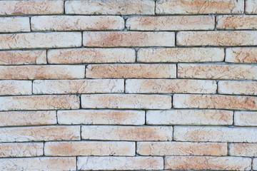 Brick background of decorative stone