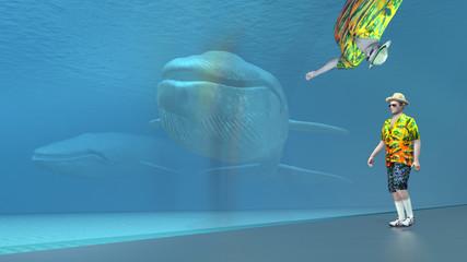 Der Besuch im Meeresaquarium