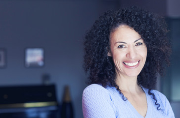 Mature Ethnic Woman Smiling At The Camera