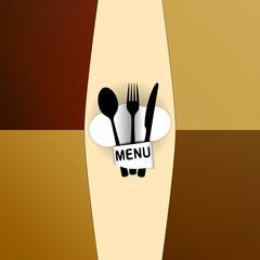 restaurant menu with chef hat chef