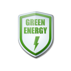 Green Energy shield sign