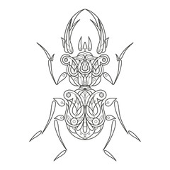 Adult coloring. Beetle.