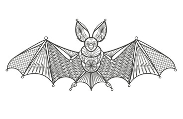 Adult Coloring - bat.