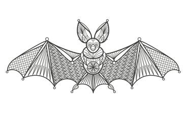 Adult Coloring - bat.