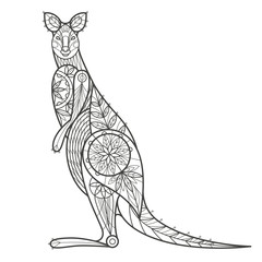 Decorative Australian kangaroo.