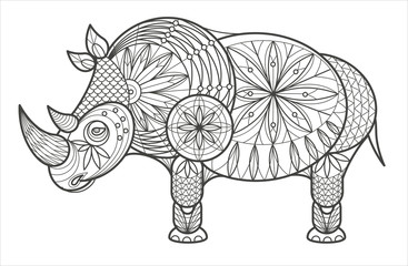 Decorative Rhinoceros.