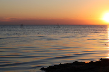 sunset over the Sea of ​​Azov