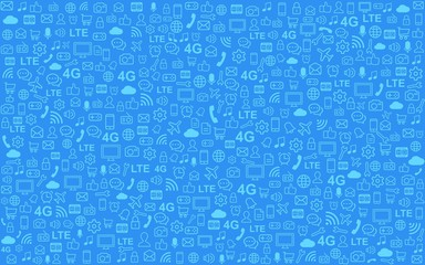 Multimedia Hintergrund - blau