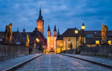 Altstadt von Würzburg, Bayern, Deutschland
