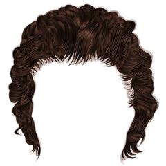 trendy man hairs  fringe . medium length . beauty style .realistic  3d