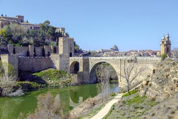Alcantara Bridge, over the river Tage, Toledo