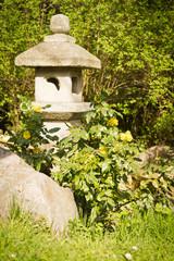 sculpture in a Japanese garden