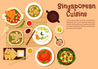 Fresh singaporean seafood dinner flat icon