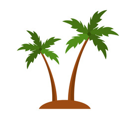 palm trees on a white background
