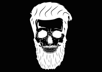 Illustration Vector Graphic Skull Pirate Hipster