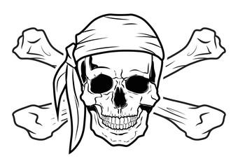 Illustration Vector Graphic Skull Pirate