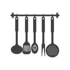 Kitchen utensils icon.