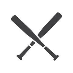 Baseball Crossed Bats