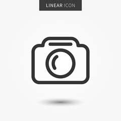 Camera icon vector illustration. Isolated camera symbol.
