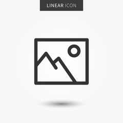 Image (picture) icon vector illustration. Isolated picture symbol.