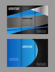 Business Tri-fold Brochure, Catalog Vector Design