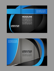 Brochure design template. Abstract background. for business, education, advertisement. Trifold booklet editable printable vector illustration