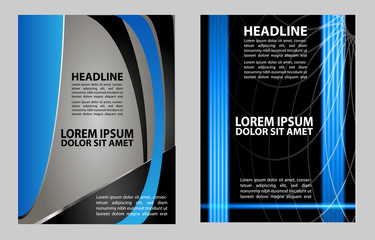 Presentation of Poster flyer design editable vector illustration