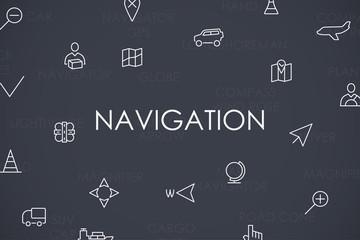 Navigation Thin Line Icons