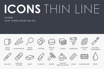 Hygiene Thin Line Icons