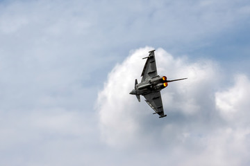 Eurofighter Typhoon aerial display at Biggin Hill Airshow
