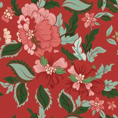 Beautiful floral seamless pattern .
