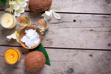 Coconut spa setting.