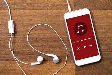 Music play application on smart phone
