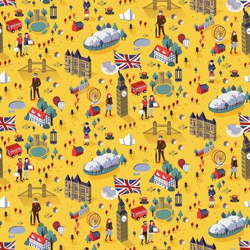 Seamless pattern of London city
