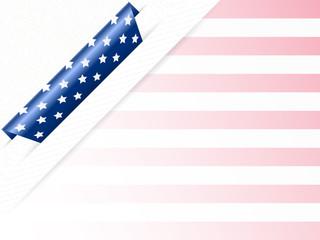 US Patriotic corner background