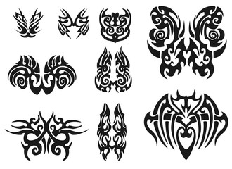 Tribal Tattoo Pack. illustration