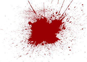 Vector Paint Splatter red color. illustration vector design