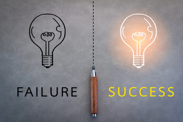 failure or success business concept Wall mural