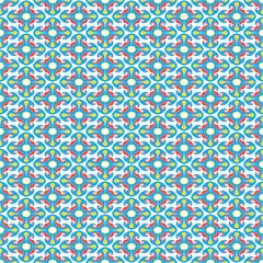 square rosettes seamless pattern