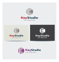 Logo Lettre K Carte de Visite et Charte Graphique Entreprise Plusieurs Couleurs