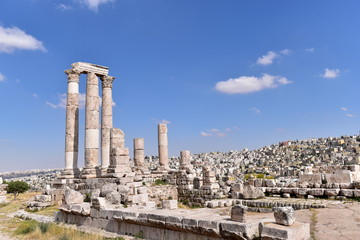 Temple of Hercules is a historic site in the Amman Citadel in Amman, Jordan